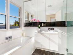 Full width shaving cabinet