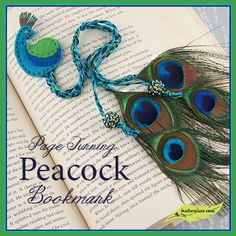 DIY Page Turning Peacock Bookmark - The Feather Place #diy #craftingwithfeathers #feathers #peacock #thefeatherplace