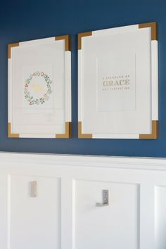 Virginia and Charlie: DIY Brass Corners