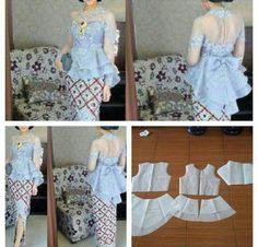 51 Ideas for sewing patterns tops link Kebaya Peplum, Batik Kebaya, Batik Dress, Dress Sewing Patterns, Blouse Patterns, Clothing Patterns, Diy Fashion, Ideias Fashion, Modern Kebaya