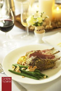 Herb crusted lamb ra