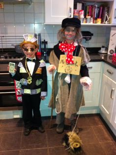 Billionaire Boy and Mr Stink costumes for World Book Day