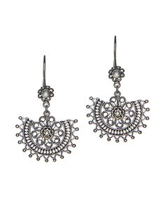 Loving this Ottoman Silver Collection Sterling Silver Geometric Drop Earrings on #zulily! #zulilyfinds
