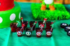 Super Mario Bros Party with Lots of Awesome Ideas via Kara's Party Ideas KarasPartyIdeas.com #Mario #Luigi #Party #Ideas #Supplies (7) First Birthday Parties, Boy Birthday, First Birthdays, Super Mario Brothers, Super Mario Bros, Mario Bros Cake, Party Themes, Party Ideas, Mario And Luigi