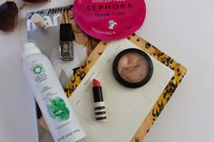 My Friday Five #5 Herbal Essences Naked Dry Shampoo Top Shop Lipstick in Macaroon  MAC Definitely Defined JinSoon Polish in Farrago  Sephora Rose Sheet Mask