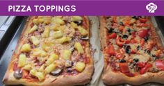FOODGLOSS - Pizza toppings (tonijn en hawaii)