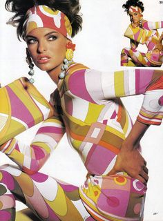 'Pucci' from……….Vogue April 1990 feat Linda Evangelista