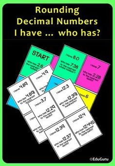 Students practice rounding decimals to the nearest tenth, hundredth or whole number and at the same time they& having fun! A great game to engage your students! Teaching 5th Grade, 5th Grade Math, Teaching Math, Maths, Fourth Grade, Teaching Ideas, Math Games, Math Activities, Puzzle Games
