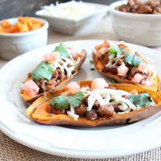 Turkey Chili Sweet Potato Skins #LLBSuperbowl #Superbowl #Recipes