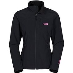 The North Face Apex Bionic Jacket - Women's TNF Black Pink Ribbon Small -- You can find out more details at the link of the image. North Face Women, The North Face, Coats For Women, Jackets For Women, Women's Jackets, Casual Jackets, North Face Jacket, Vest Jacket, Pink Ladies