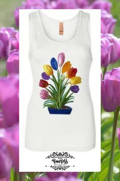 Get this ladies jersey tank top, in a variety of colors and sizes. Graphic Tank, Fashion Accessories, Tank Tops, Lady, Colors, Board, How To Make, Shopping, Women
