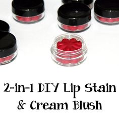 This 2 in 1 DIY lip stain and cheek color is simple to make and can be poured directly into lip balm pots or molded into cute flower shapes for gifting!