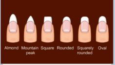 Always almond or round nail shapes for me! I think they're the most feminine!