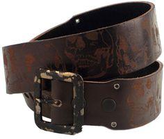 44 - Brown Johnston /& Murphy Raw Edge Single Stich Belt