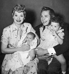 The Arnaz Family ~ Lucille Ball, Desi Arnaz, Lucie Arnaz And Desi Arnaz Jr  1953