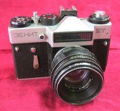 Vintage 35 mm film camera ZENIT ET Original Soviet product