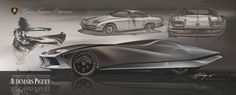 Lamborghini 350 GT Concept by Hoe Young Hwang