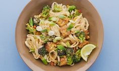Tofu love: Meera Sodha's peanut butter and broccoli pad thai.