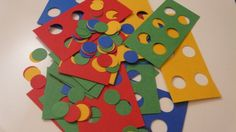 """Lego Party - Lego """"confetti"""" to decorate tables"""