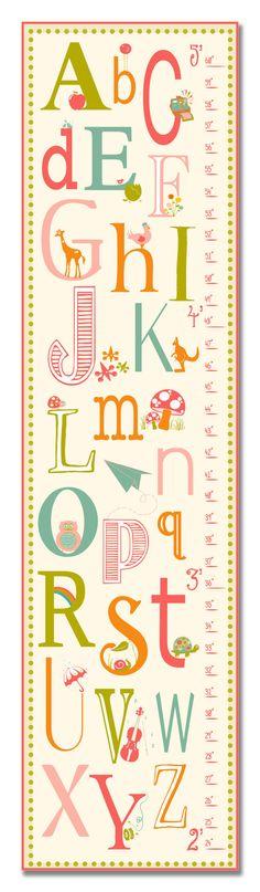 Growth Chart  Nursery Art  ABC's Alphabet Growth by KZukowski, $50.00