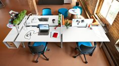 Designed to grow with you, Bivi desks are a modern option for small businesses. The modular systems can be arranged in a variety of settings.