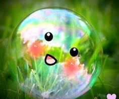 This would be my dream pet if only I could touch it without poping it Computer Wallpaper, Wallpaper S, Kawaii Cute, Pretty And Cute, Background S, Emoticon, Cool Websites, Christmas Bulbs, Bubbles