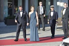 King Carl Gustaf and Queen Silvia hosts  a private gala dinner at Grand Hotel for Princess Madeleine's  wedding - Elie Saab - ;-)