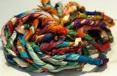 Recycled Sari Silk Yarn: Rope Cording by Darn Good Yarn | The Best Yarn Store!