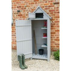 Tall Wooden Sentry Shed, Stone