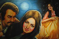 Pakistan's Cinema Art: A scene from Pakistani film Aarzo featuring Zeba and Mohammad Ali