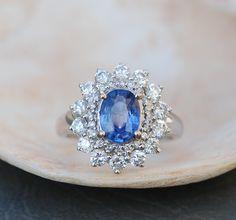 »Sapphire #Engagement Ring Blue #sapphire 18k White #Gold #Diamond ring Oval #Sapphire #Ring« #wedding #weddinginspiration #jewelry