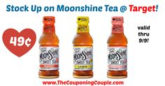 If you love having a variety of tea flavors, grab this deal at Target valid thru 9/9! Stock Up on Moonshine Tea for Only 49¢ @ Target!  Click the link below to get all of the details ► http://www.thecouponingcouple.com/stock-up-on-moonshine-tea-for-only-49%c2%a2-target/ #Coupons #Couponing #CouponCommunity  Visit us at http://www.thecouponingcouple.com for more great posts!