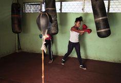 Entrenamiento de boxeo en el Instituto Nacional del Deporte en Managua (Nicaragua), el 4 de marzo de 2015.