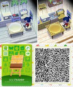 Animal Crossing: New Horizon / Leaf QR Code Paths — Credit Happy Home Designer, Animal Crossing Qr, New Leaf, Wood Wall, Cool Designs, Coding, Kids Rugs, Qr Codes, Nintendo 3ds