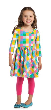 My baby girl wore this dress today to a friends birthday party.  She got tons of compliments on it.  The colors are so vibrant.  Love this outfit.  #FabKids