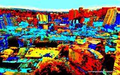 Paisaje Vectorial Norman, Cali, Times Square, Painting, Travel, Digital Art, Scenery, Viajes, Painting Art