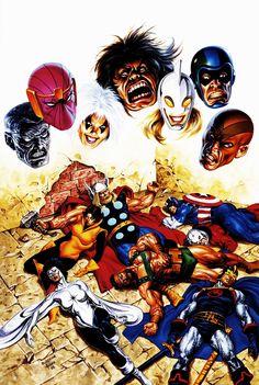 Avengers vs the Masters of Evil by John Buscema and Joe Jusko