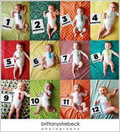 Ideias para fotos mês a mês do bebê