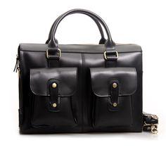 Image of Handmade Genuine Leather Briefcase Laptop Messenger Bag in reddish brown Hard Cowhide 02