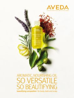 The amazing beautifying composition by Aveda! I love the multi-use capabilities to its amazing scent; a balancing aroma featuring organic lavender, rosemary and bergamot. I just can't get enough! Here are 8 of my favorite ways to use this amazing all over body oil, though I'm sure there are 100's more: