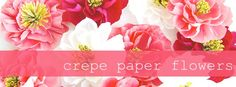 DIY Crepe Paper Flowers via Oh My! Handmade Goodness.  This would be great for parties and weddings!