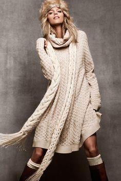 neutral sweater dress