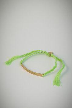 "Green bracelet with golden square pendant ""Loving the life"". Pendant, Bracelets, Green, Life, Jewelry, Bangle Bracelets, Jewellery Making, Jewerly, Jewelery"