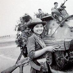 вооружена и очень опасна: вьетнамские девушки во Второй Индокитайской войне