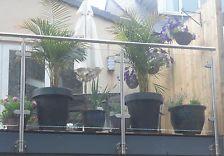 Stainless Steel Glass Balustrade Handrail / balcony / bannister /Garden railings