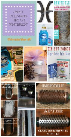 This list of the Best Cleaning Tips on Pinterest has all been tested and approved. It will make some of the most dreaded chores quick and easy.