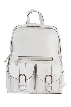 Mini Branco Vinyl Backpack
