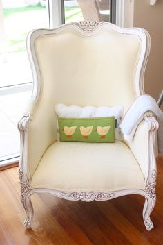 Forget the pillow! Loving this chair!