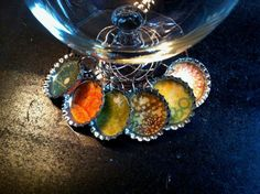 Bottle Cap Wine Charms Drink Rings Tags by TrishasDandelion, $15.00