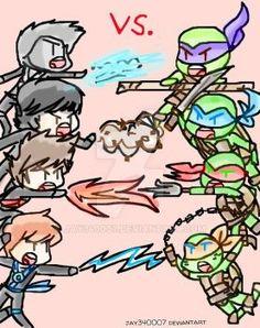 Ninjago vs. Tmnt by jay340007